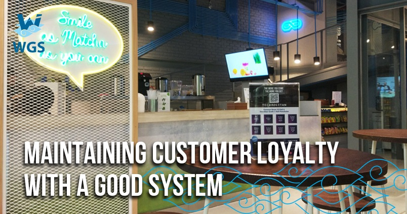 maintaining customer loyalty with a good system sosmed
